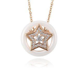 Beautiful Star CZ 18KGP Necklace